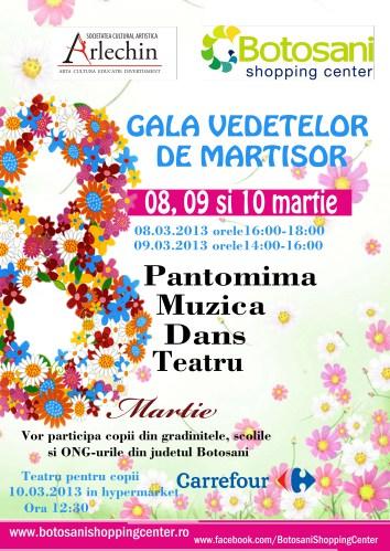 Gala Vedetelor de Martisor - Botosani Shopping Center - Arlechin Botosani.