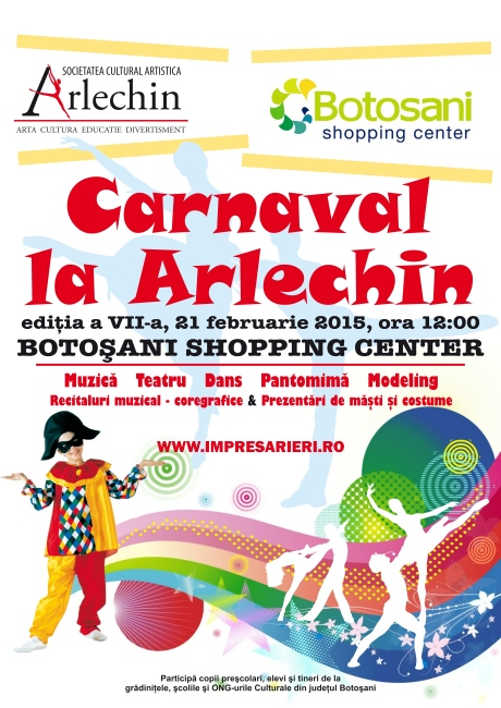 Carnaval la ARLECHIN - Botosani Shopping Center 2015