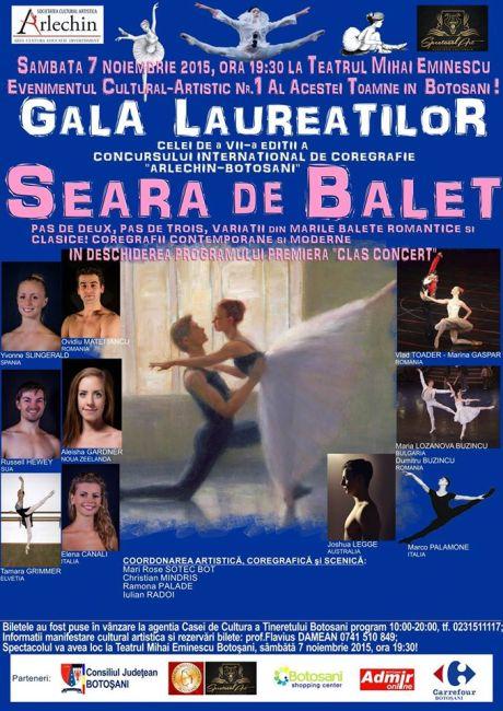 Gala Internaţională de Balet - ARLECHIN- Botosani - 7 noiembrie 2015