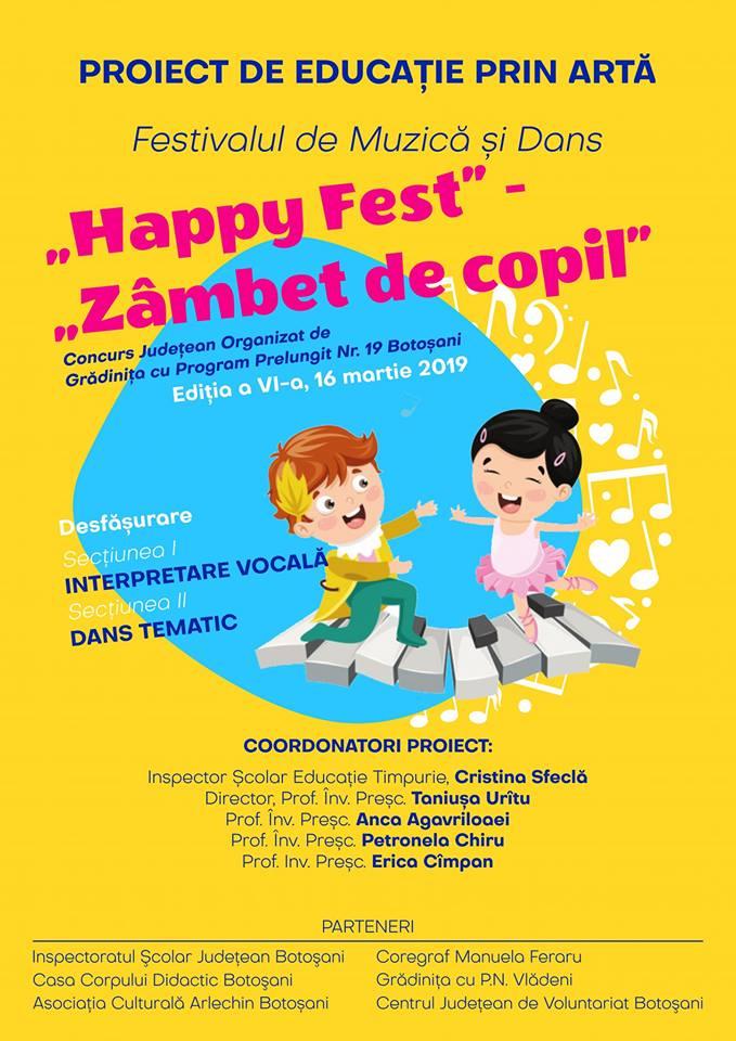 Happy Fest - Zambet de copii - 2019 - Gradinita 19 - Asociatia ARLECHIN Botosani - Centrul Judetean de Voluntariat Botosani